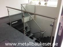 Handlauf /Geländer mit Glaseinlass